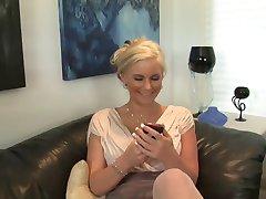 Blonde milf gets BBC
