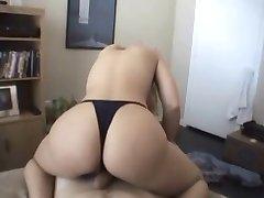 huge tits rides cock