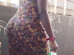 Afriške velik plen jiggle v sundress