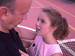 adolescent, mignon, Ados Hardcore Lapin baise pour de l'Olympia