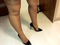 putting on stockings
