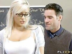 Gorgeous Platinum-blonde Teen School Girl