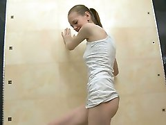 spanish super skinny girl in the shower
