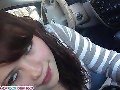 Nastolatka Ssie Twardy Kutas W Samochodzie