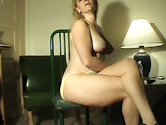 Farting Blond milf