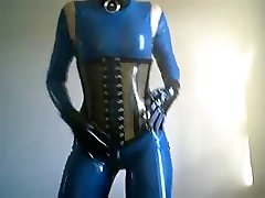 Modra Latex lutka