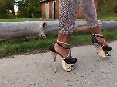 Schlangenleggings - स्चलंगें उच्च ऊँची एड़ी के जूते