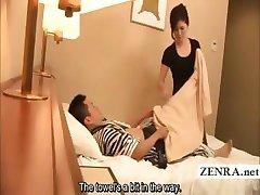 Sous-titré Japon masturbation devant milf masseuse