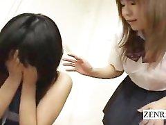 Tekstet Japansk ENF nudist skolepike i klasserommet