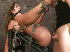 Horny girl bound