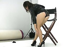 Sexy brunette babe gets horny showing part5