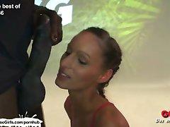 Vruća crnka nimfomanka i teen pleasuring naše kurčina