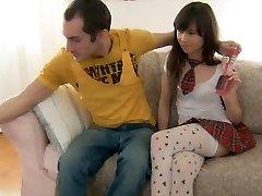 Schoolgirl in stockings