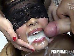 Premium Bukkake - Victoria swallows 81 big mouthful cumloads