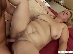 Saggy Breasted Blonde Mature Stepmom Anal Fuc