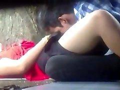 Myanmar Couple Making Love in Park