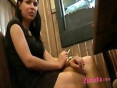 Masturbation at the public toilet