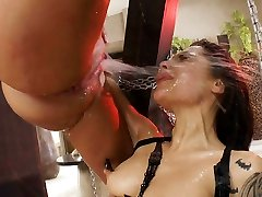This squirting anal threesome will make you rock hard