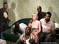 Ebony Gang-fuck White
