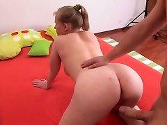 grasos chica sensual tetas en acción anal