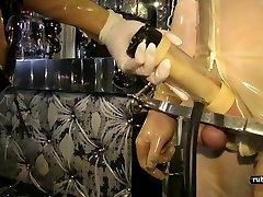Rubber Mega-slut Machine Milking