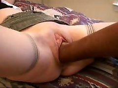 Whorish wife   with fist, cock and cucumber