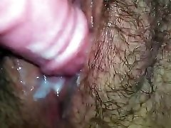Close Up Unshaved Pussy Creaming