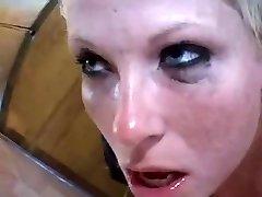 Danish blonde gasping