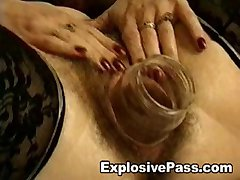 Insertions and Fist For Hairy Pussy