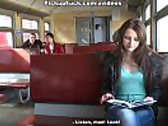 Girl picked in a train and penetrated in mouth and pussy