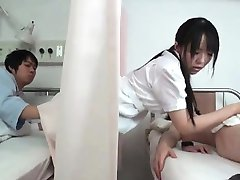 Horny dark haired Asian nurse part4