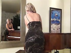 Blonde MILF fucked by young guy's BBC