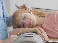 LustHD Perky tits redhead Russian teen sucks and rides BF