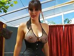 Big tits teacher masturbating