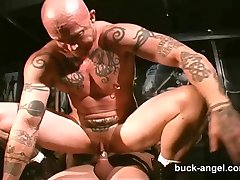 Muž s Kočička Buck Angel v SEXY Tetování 3 způsob