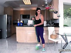 Big ass brunette busty maid Alison Tyler gets fucked