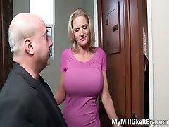 Úžasné sexy velká prsa blondýna děvka part3