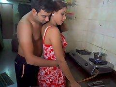 Husband licking wife