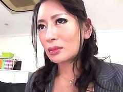 Nejžhavější japonky Rei Kitajima v Šílené punčochy, felace JAV clip