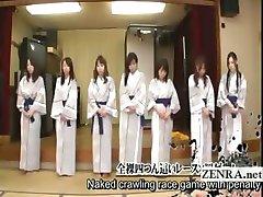 Subtitruota grupė iš Japonijos milfs juostelės lenktynių žaidimas