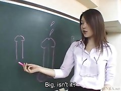 De ondertitel Japanse Akira Watase klas blowjob lezing