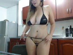 Sexy Blondýnka v Sexy spodní Prádlo 13