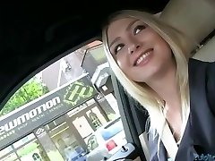 Hot Lucy fucked in the back of a car
