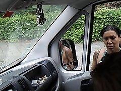 Flashing cock in car