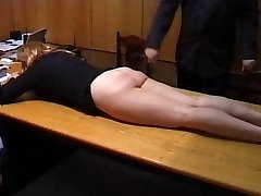 Kinky Secretary is Punished with a Roping