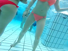 sexy asian and  teen girls nice  butts at pool