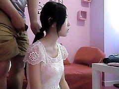 Hot Chinese Hairjob