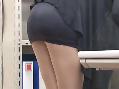 office lady lets him look-byrequest