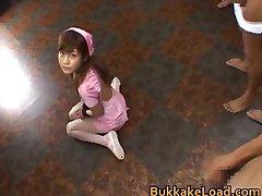 Hime Kamiya Asian teen in hard