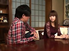 Asian Brother and Friends Fuck Beauty Sister at Home